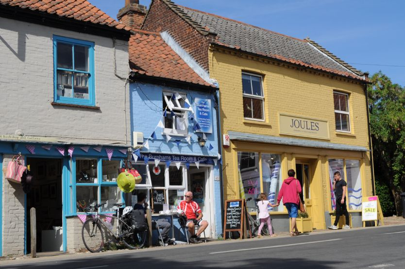 Local area: Burnham Market offers plenty of shopping and eating opportunities