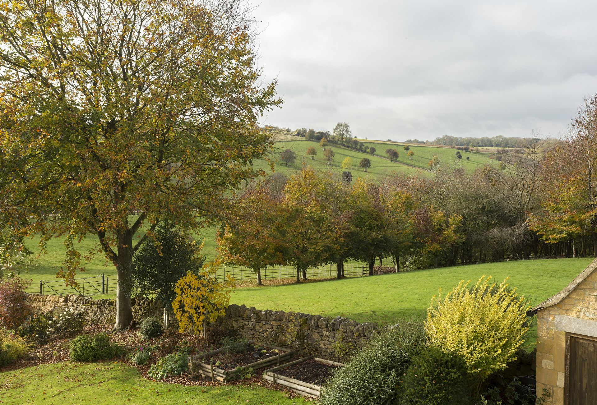 Outside: Countryside views from the garden