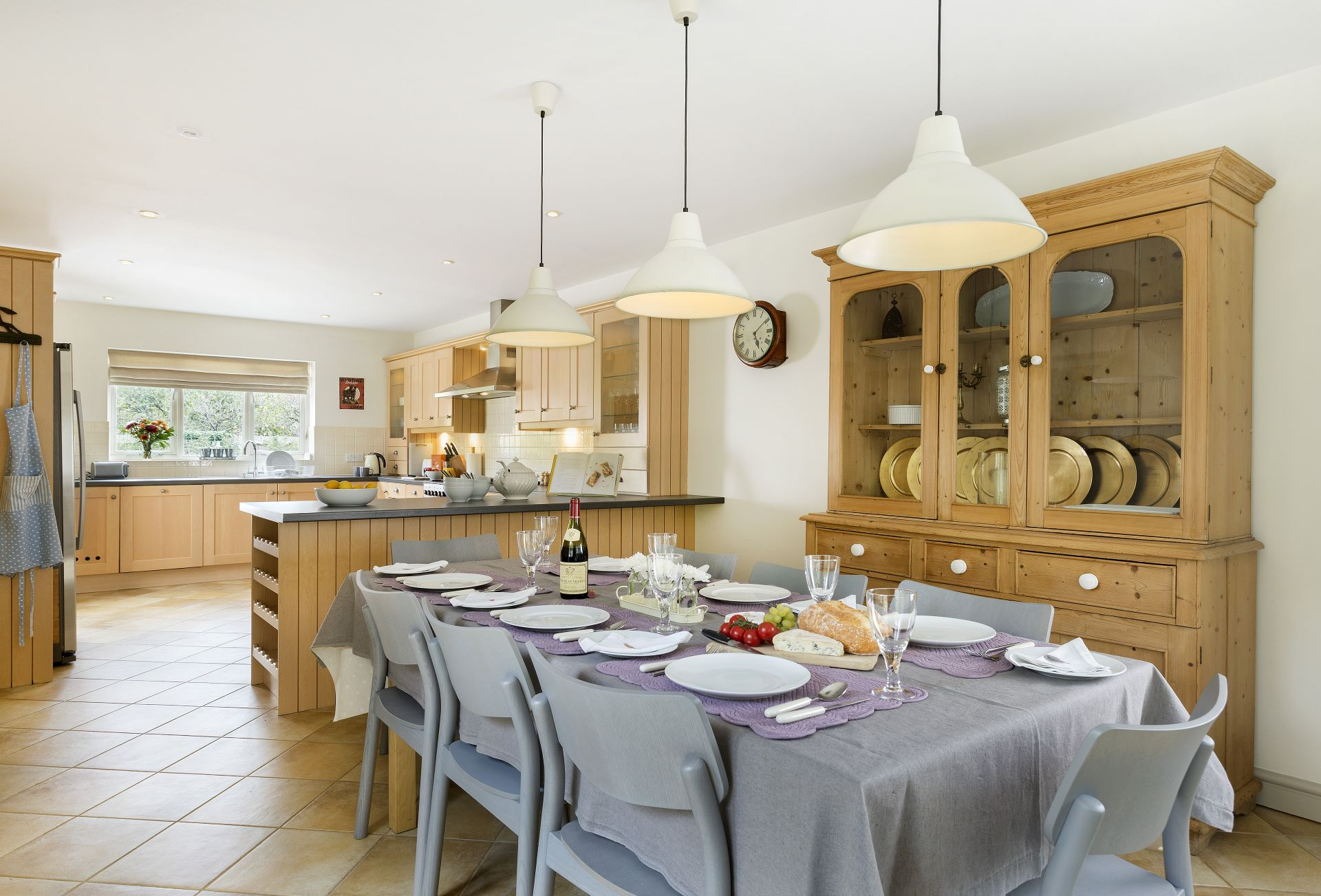 Ground floor: Dining kitchen with table seating six - eight guests