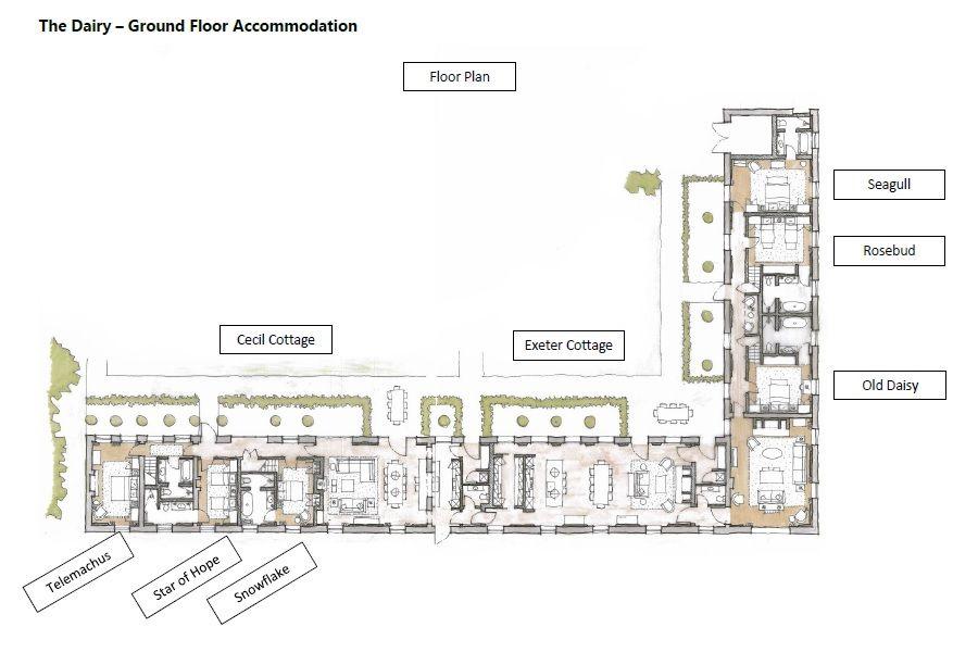 The Dairy Ground Floor plan