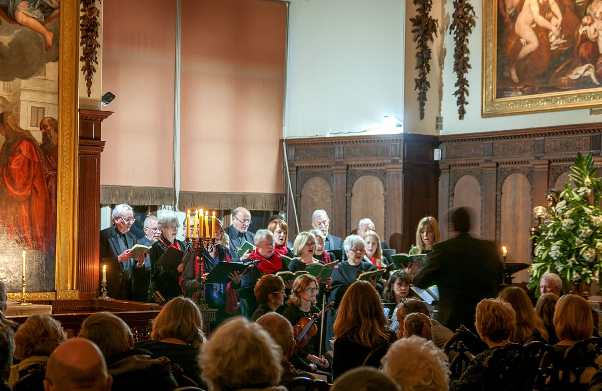The traditional Burghley House Chapel Carol Concert