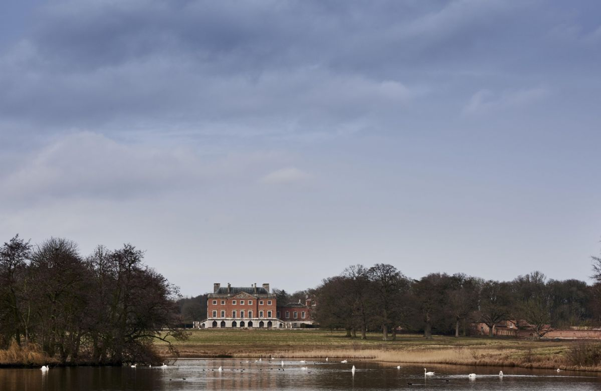 Splendid views of the lake and parkland on the Wolterton Park private estate