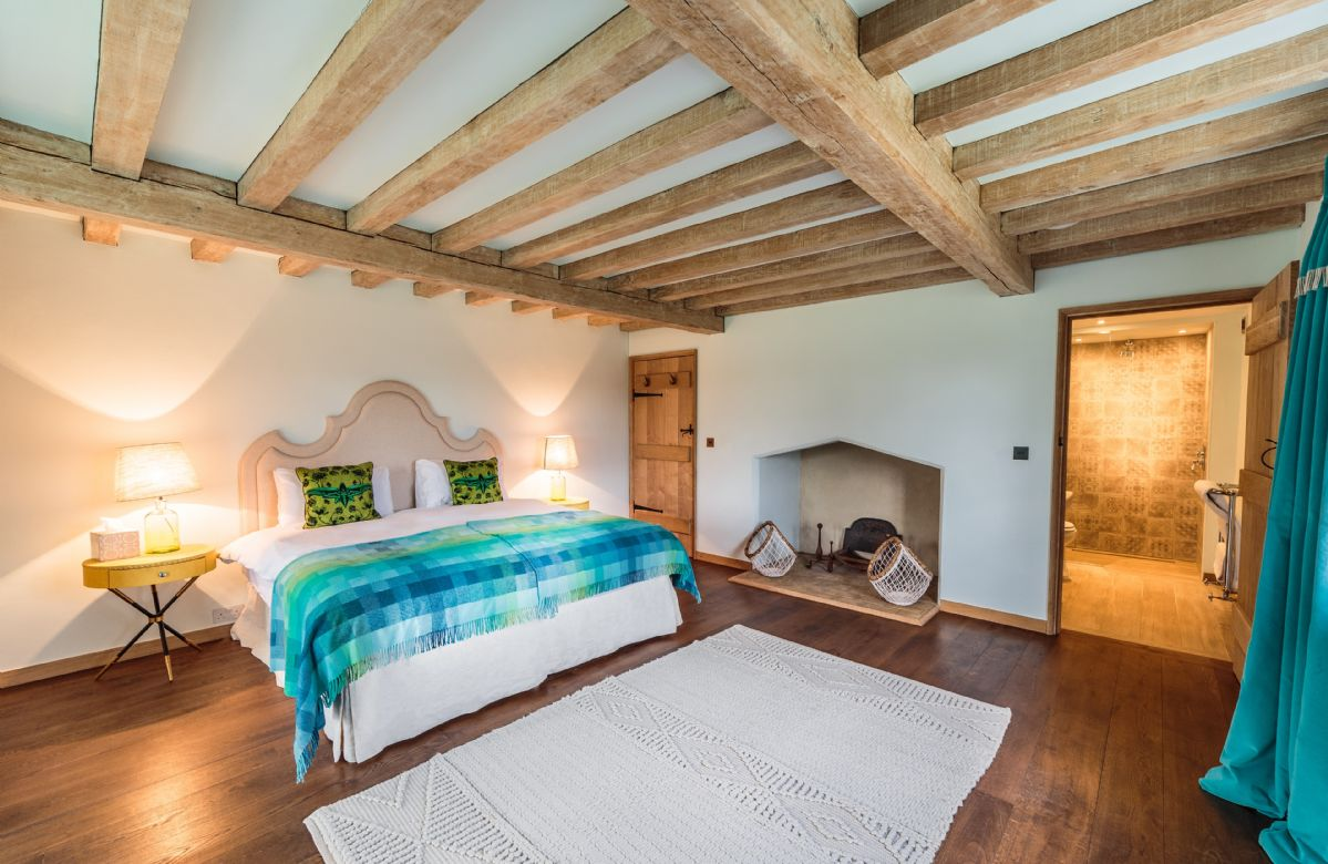 Farmhouse Blue bedroom
