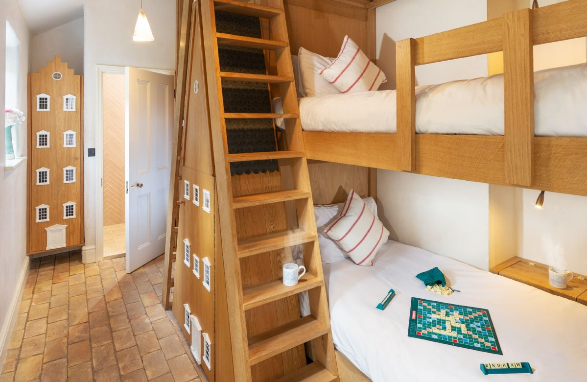 Ground floor: Bunk room for children and young adults