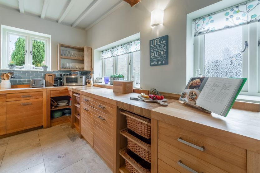 Ground floor: The kitchen is light, bright and spacious