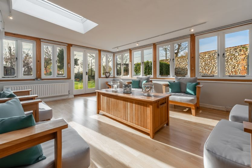 Ground floor: With windows overlooking the garden the conservatory offers a wonderful place to relax