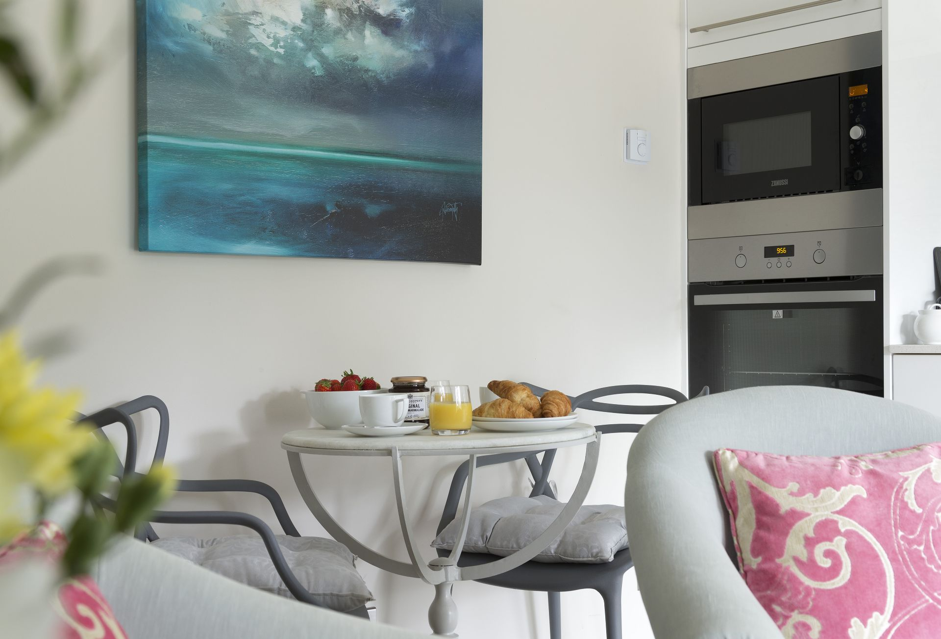 Dining area for two