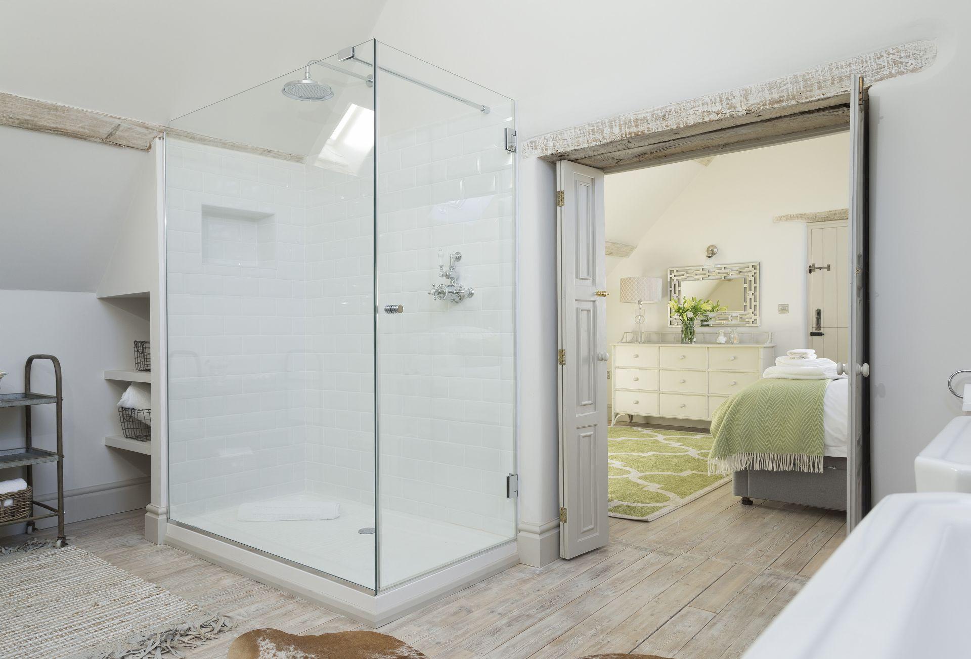 First floor: En-suite bathroom with walk in shower