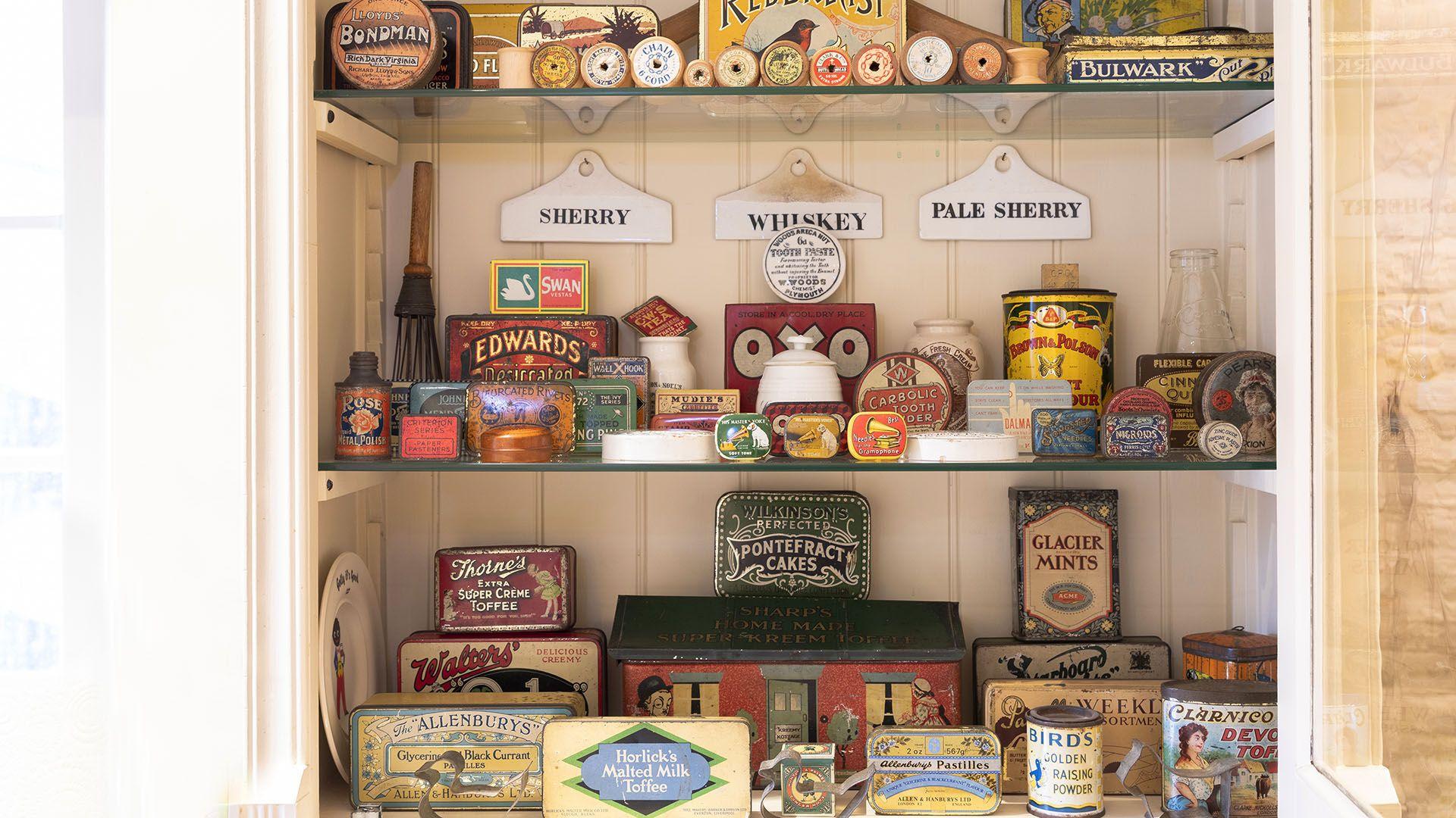 Vintage tin collection, Church Cottage, Bolthole Retreats