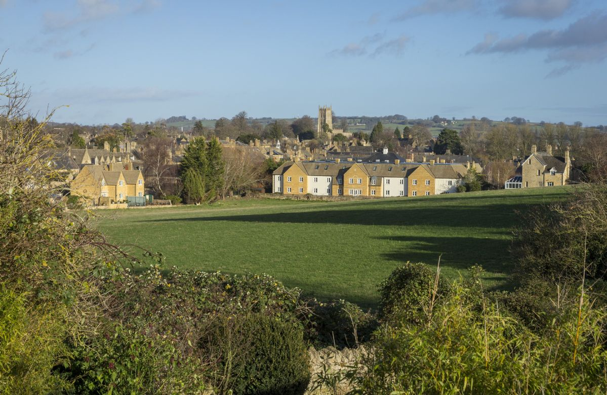 Stunning views from Compton House into the town