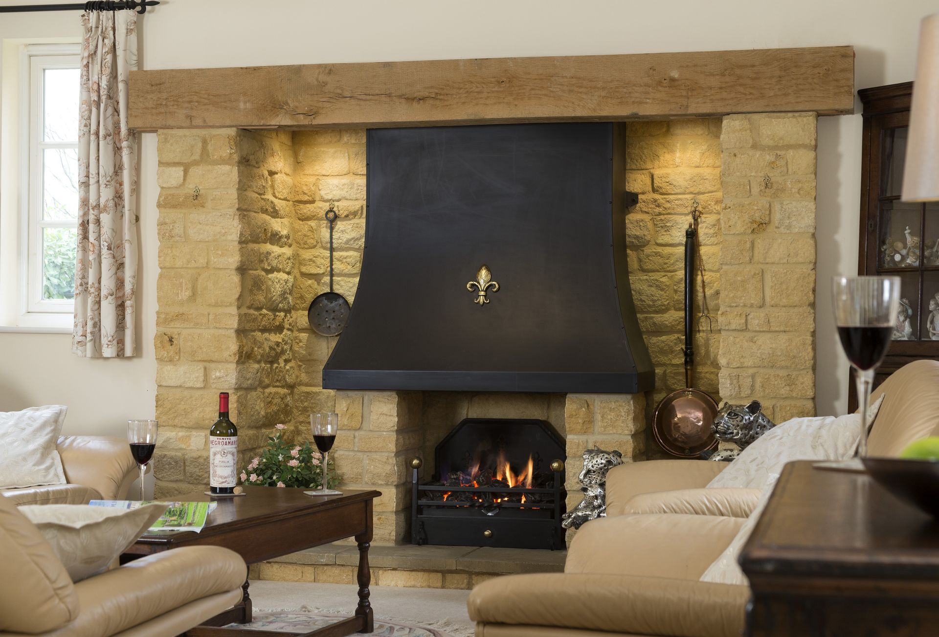 Enjoy a cosy evening by the fire in the sitting room