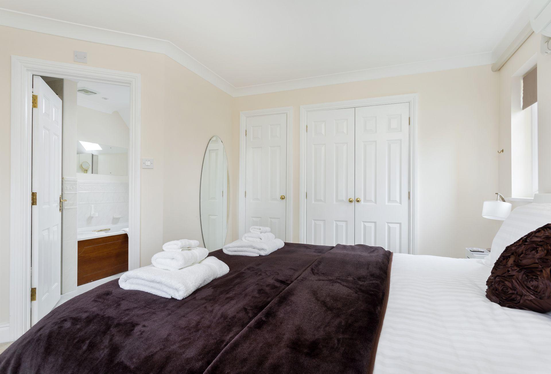 First floor: En-suite bathroom leads off from the master bedroom
