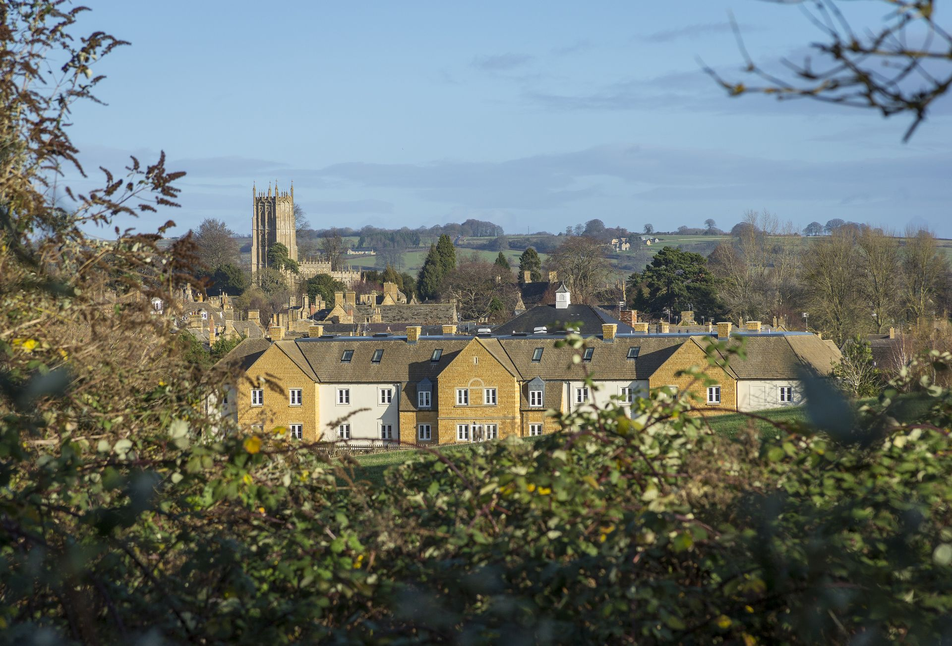 Stunning views from Compton House to the town of Chipping Campden