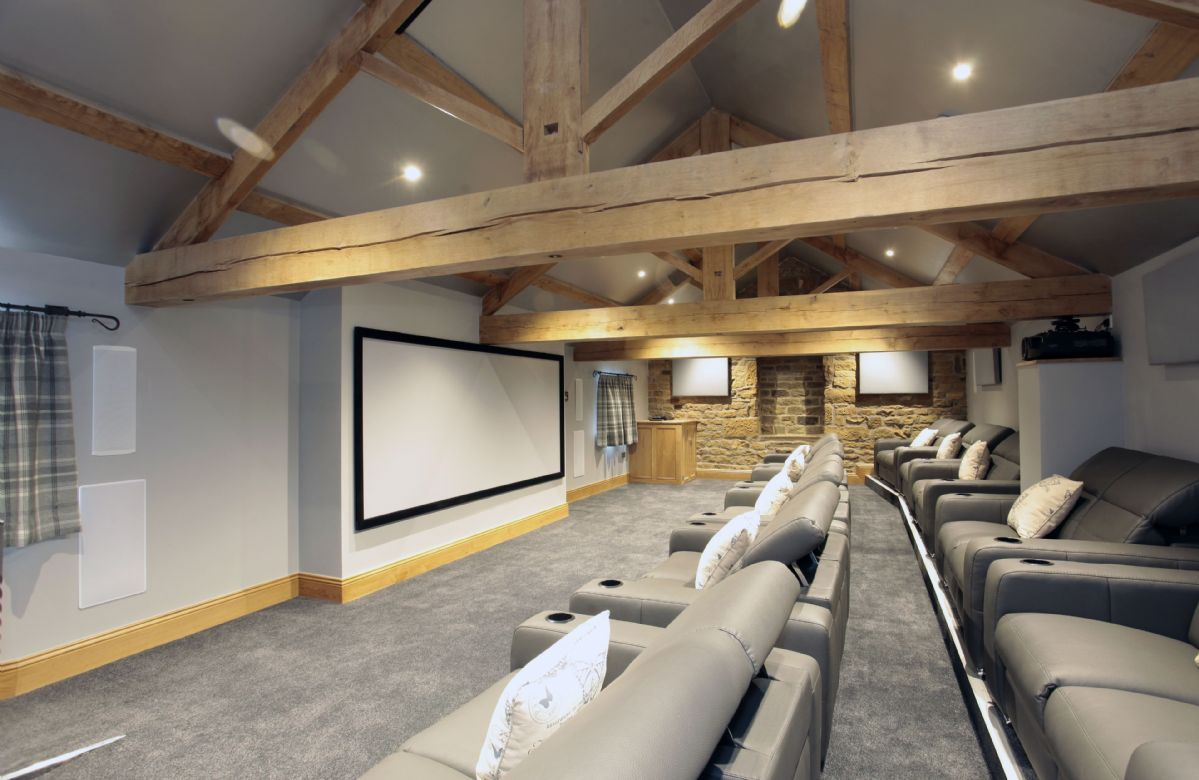 Second floor: State of the art cinema with seating up to twenty two
