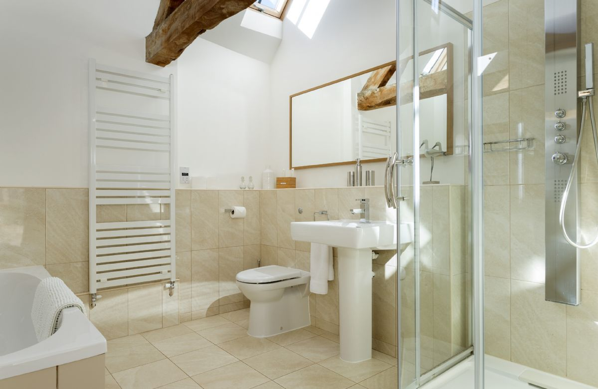 The Dairy: Bathroom with bath and separate shower