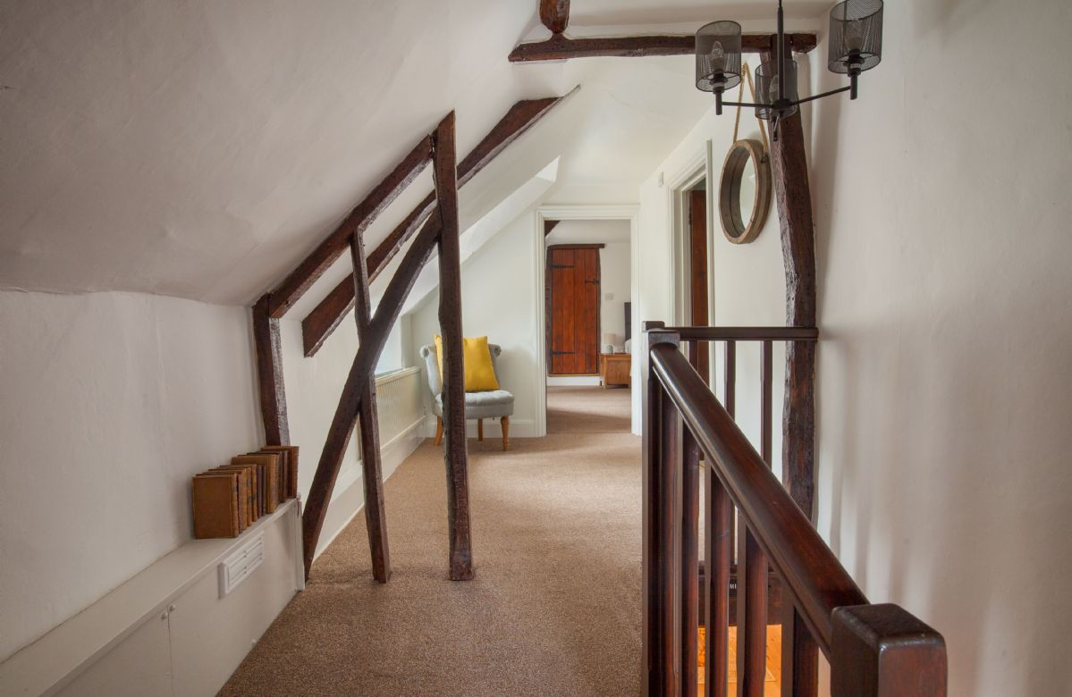 First floor: Lovely traditional features in this beautiful thatched cottage