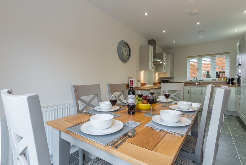 Ground Floor: The dual aspect kitchen/diner is spacious and light