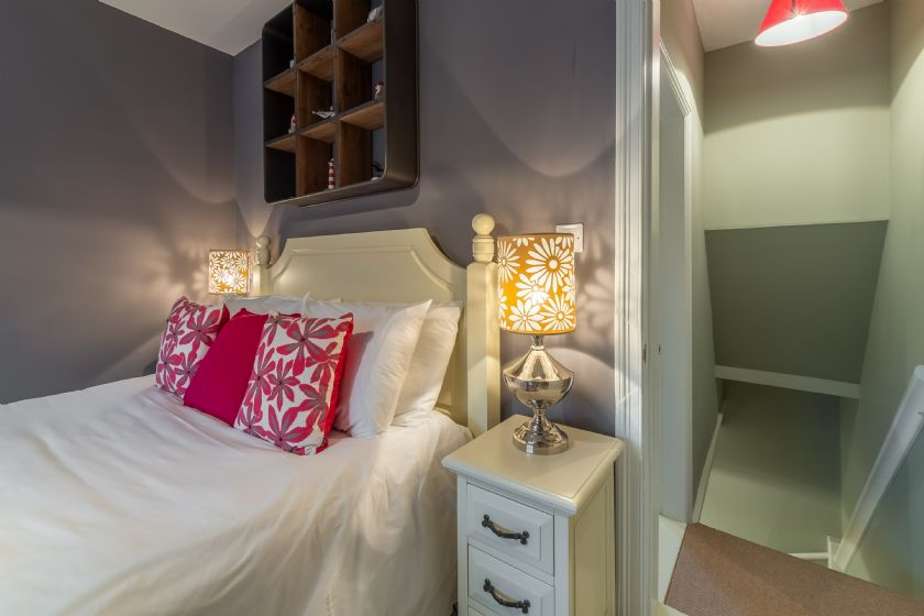 First floor: Master bedroom with King sized double bed
