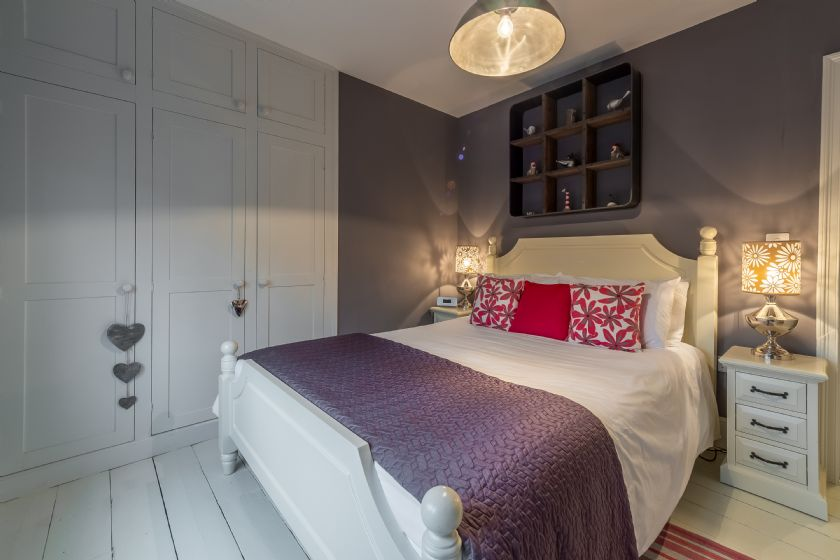 First floor: Master bedroom with built in wardrobe