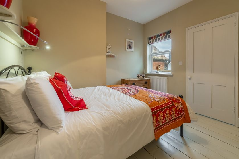 First floor: Second bedroom with views to the rear of the cottage