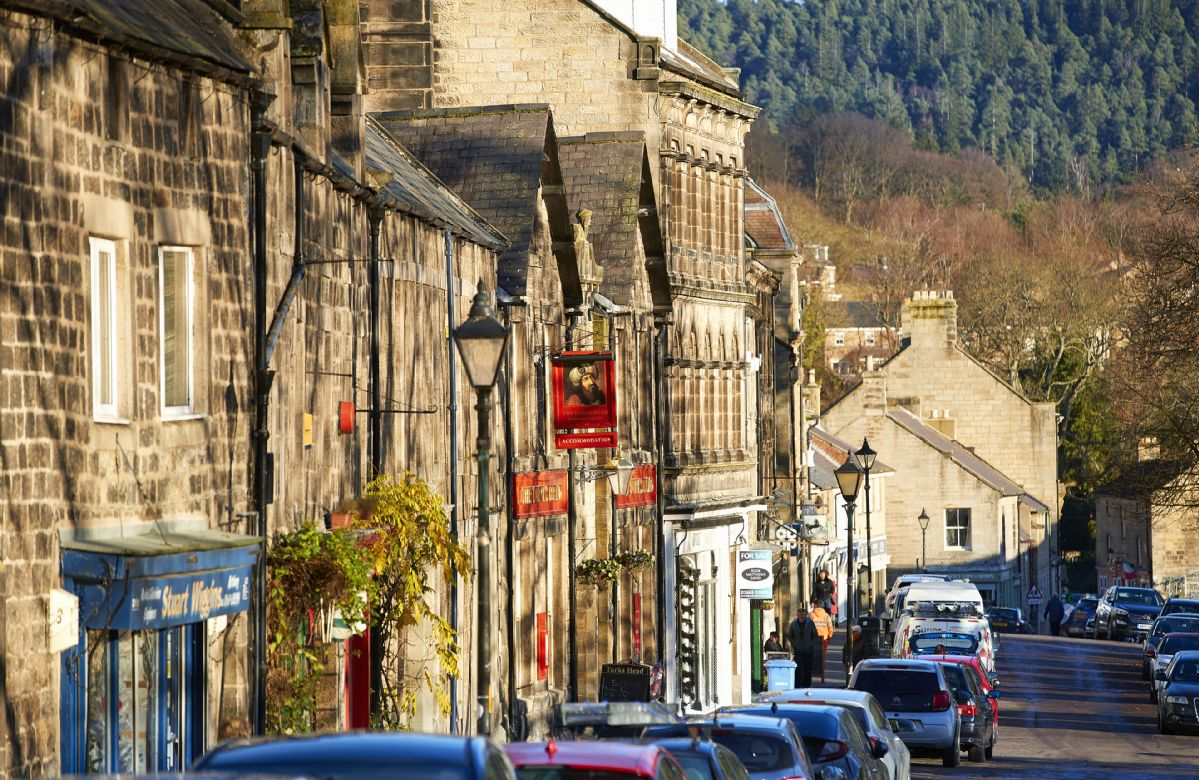 The charming market town of Rothbury is nearby