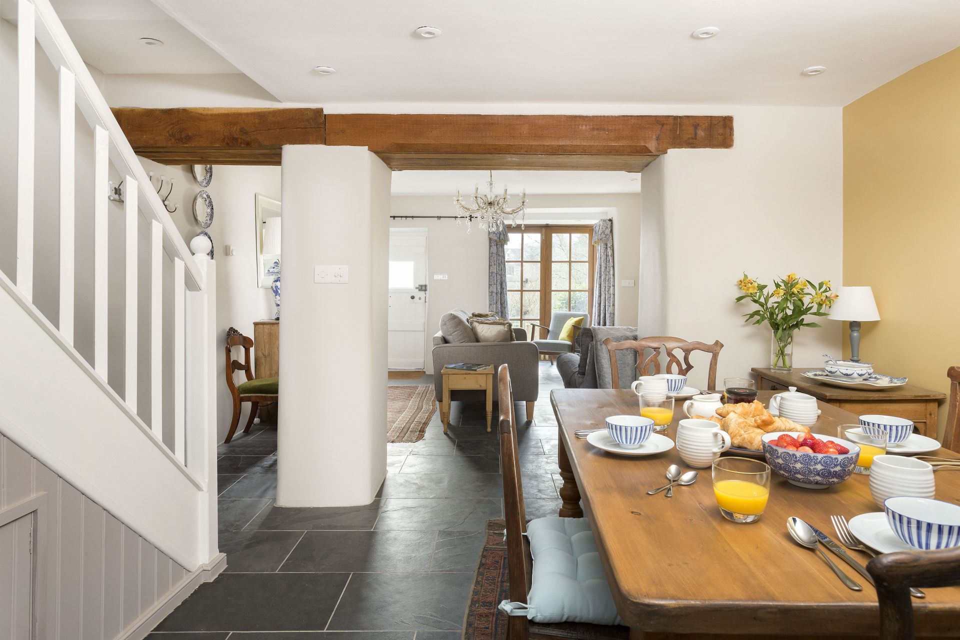 Ground floor: Dining room through to sitting room
