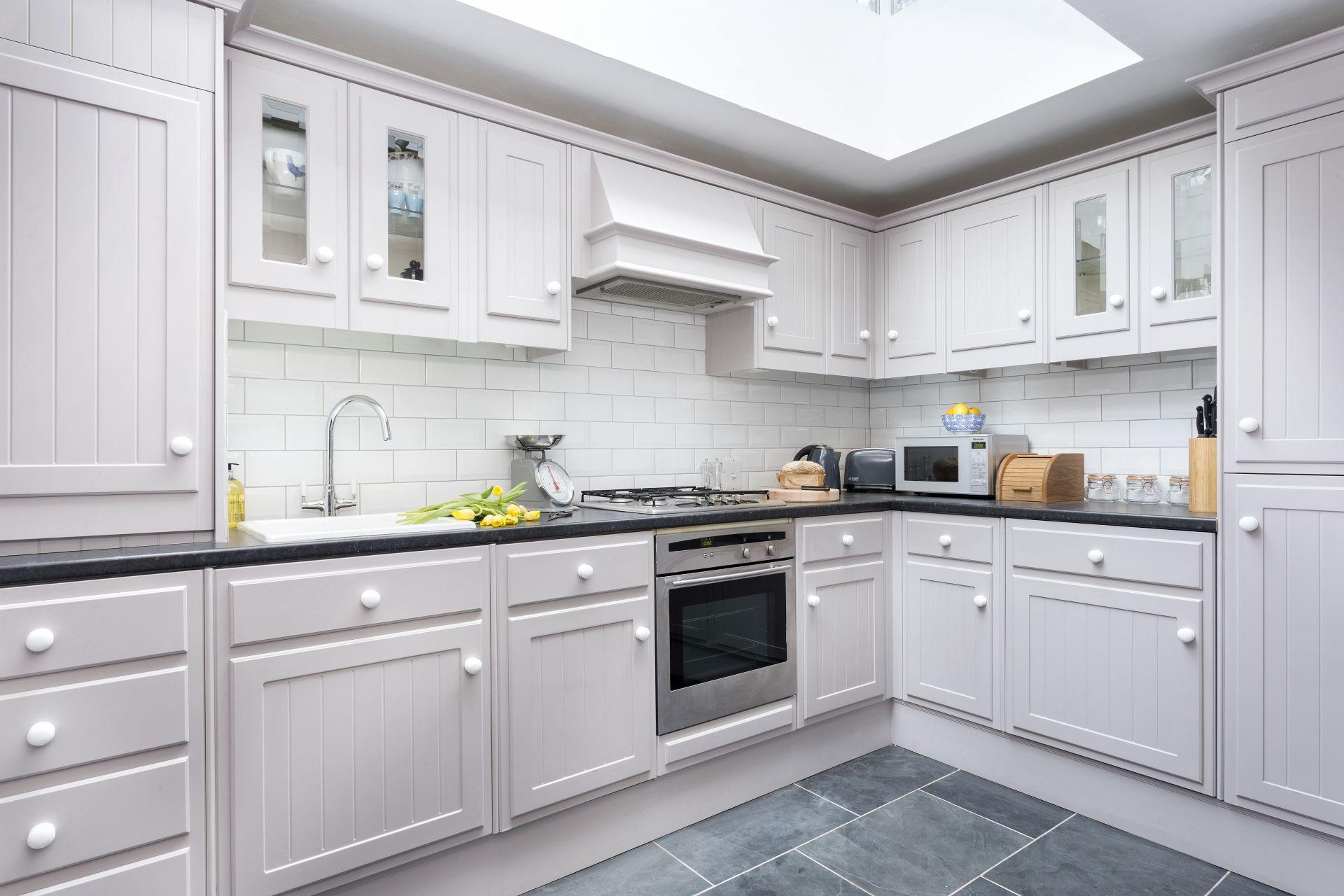 Ground floor: Kitchen with skylight