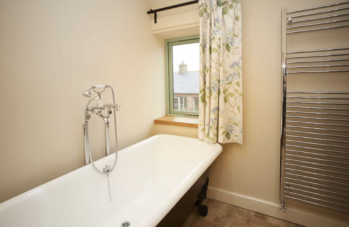 First floor: Cast iron free standing bath in the master bathroom