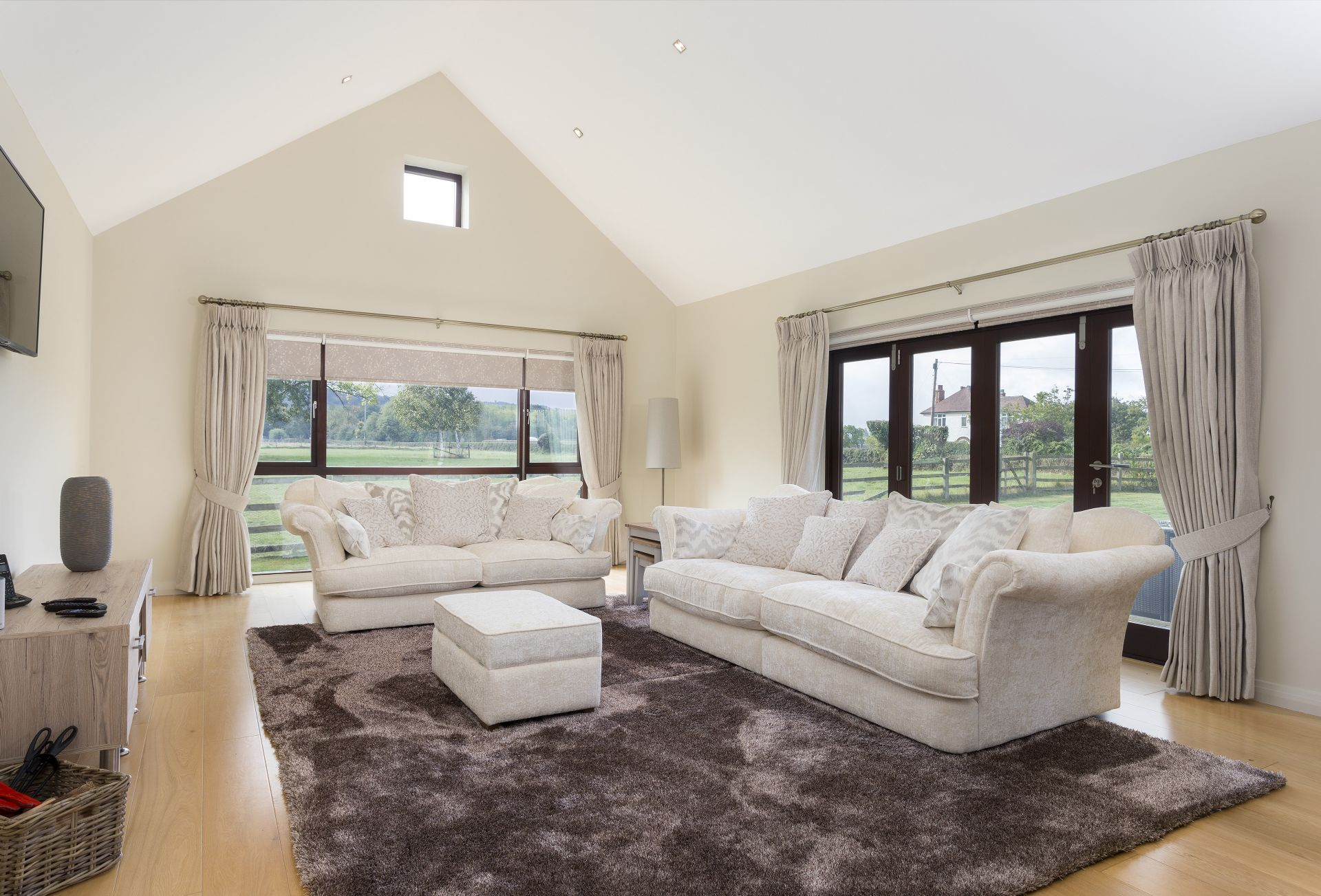 Ground floor: Panoramic views across the countryside from the spacious sitting room