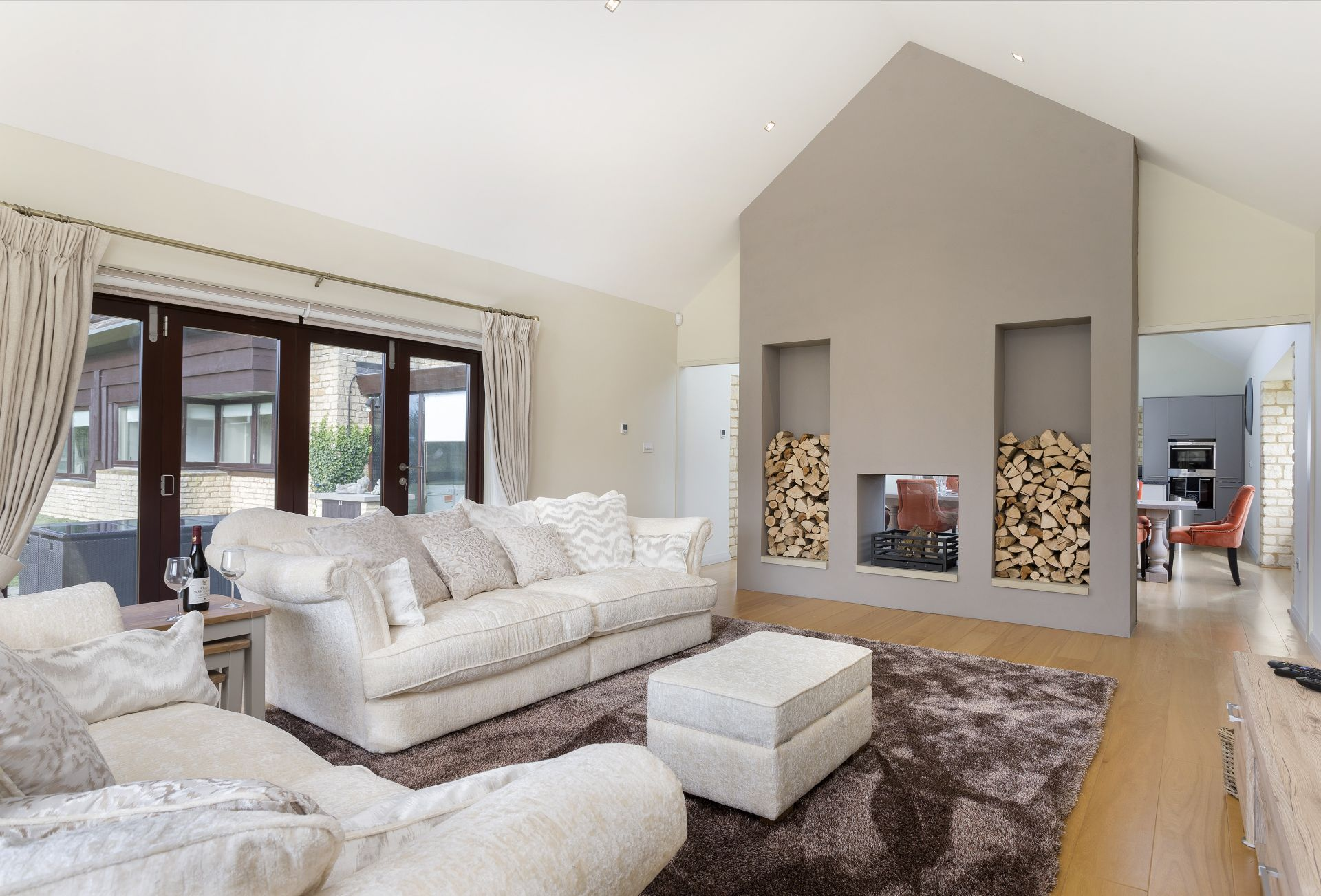 Ground floor: The comfortable sitting room with feature double sided fireplace