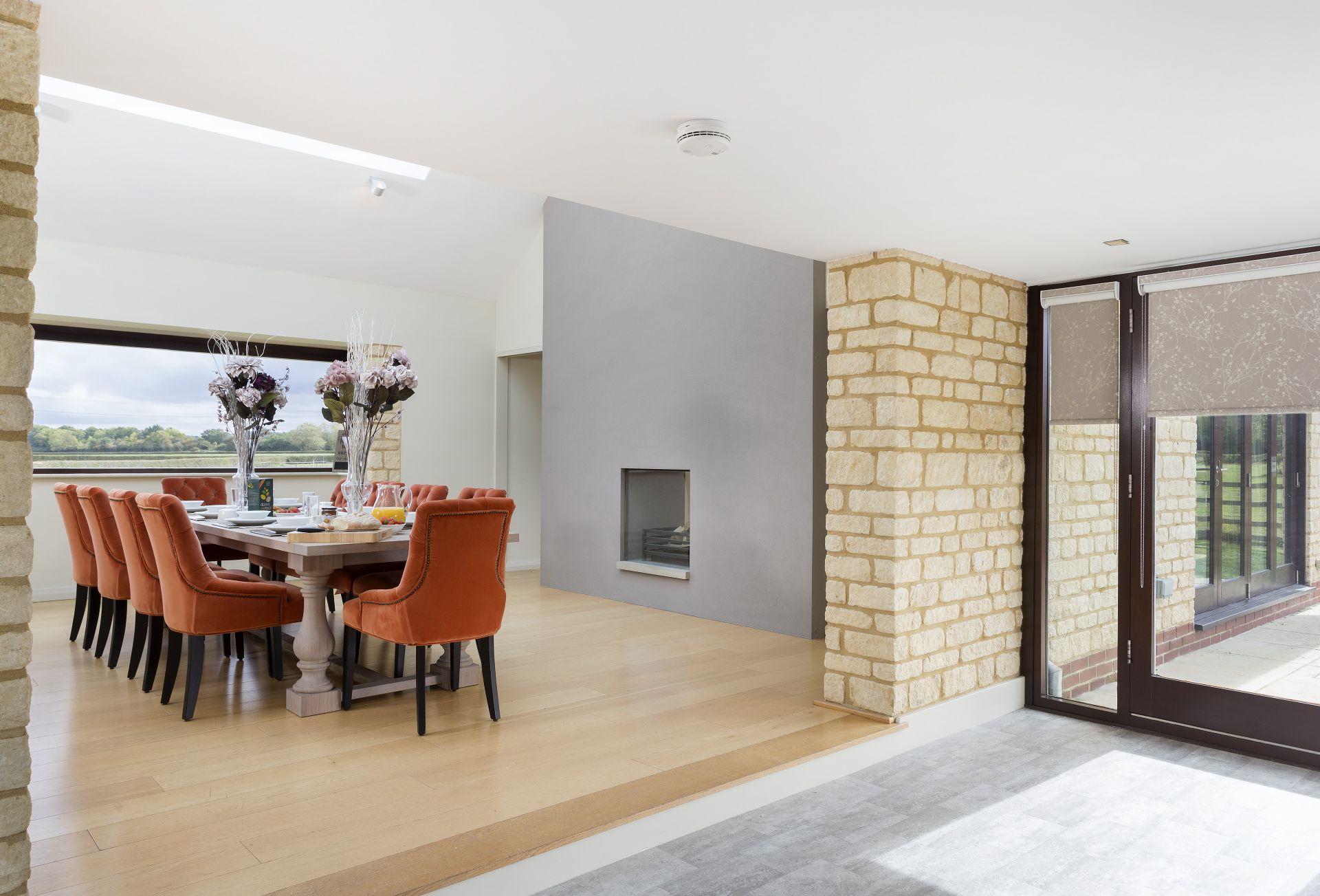 Ground floor: Open-plan walkway with floor to ceiling windows for maximum light
