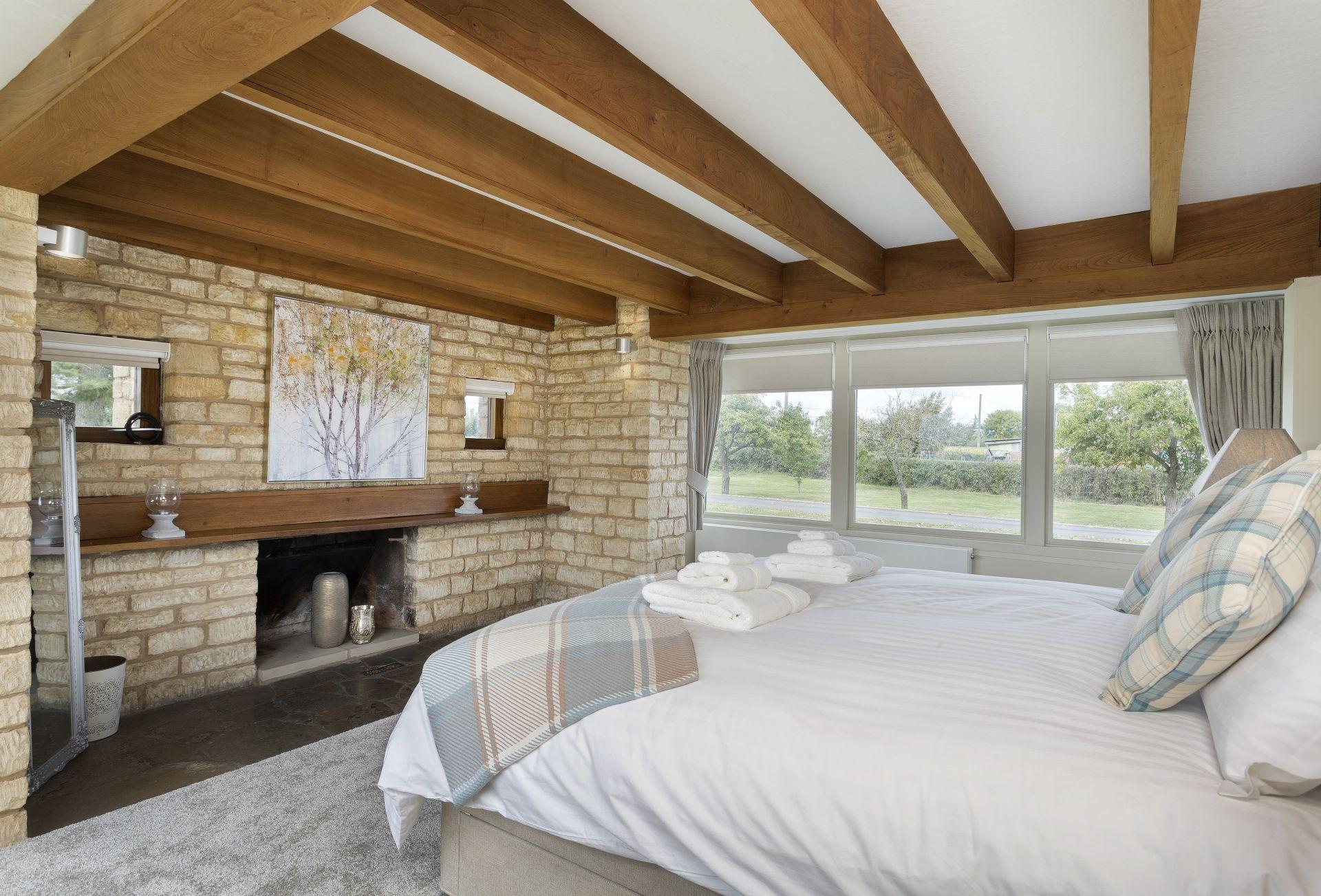 Ground floor: Master bedroom enjoys lovely views onto the garden