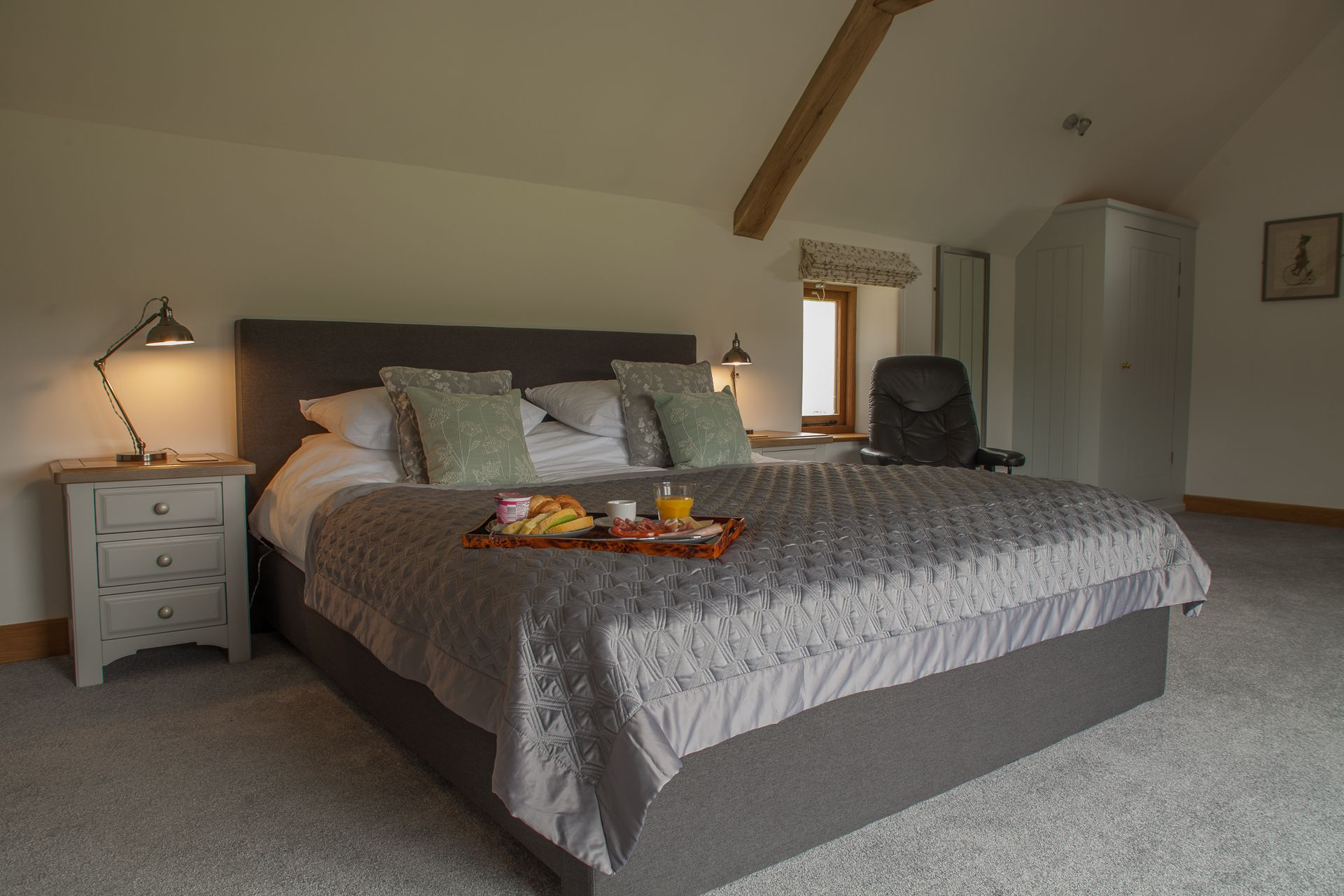 First floor: Master bedroom with super-king size bed and en-suite