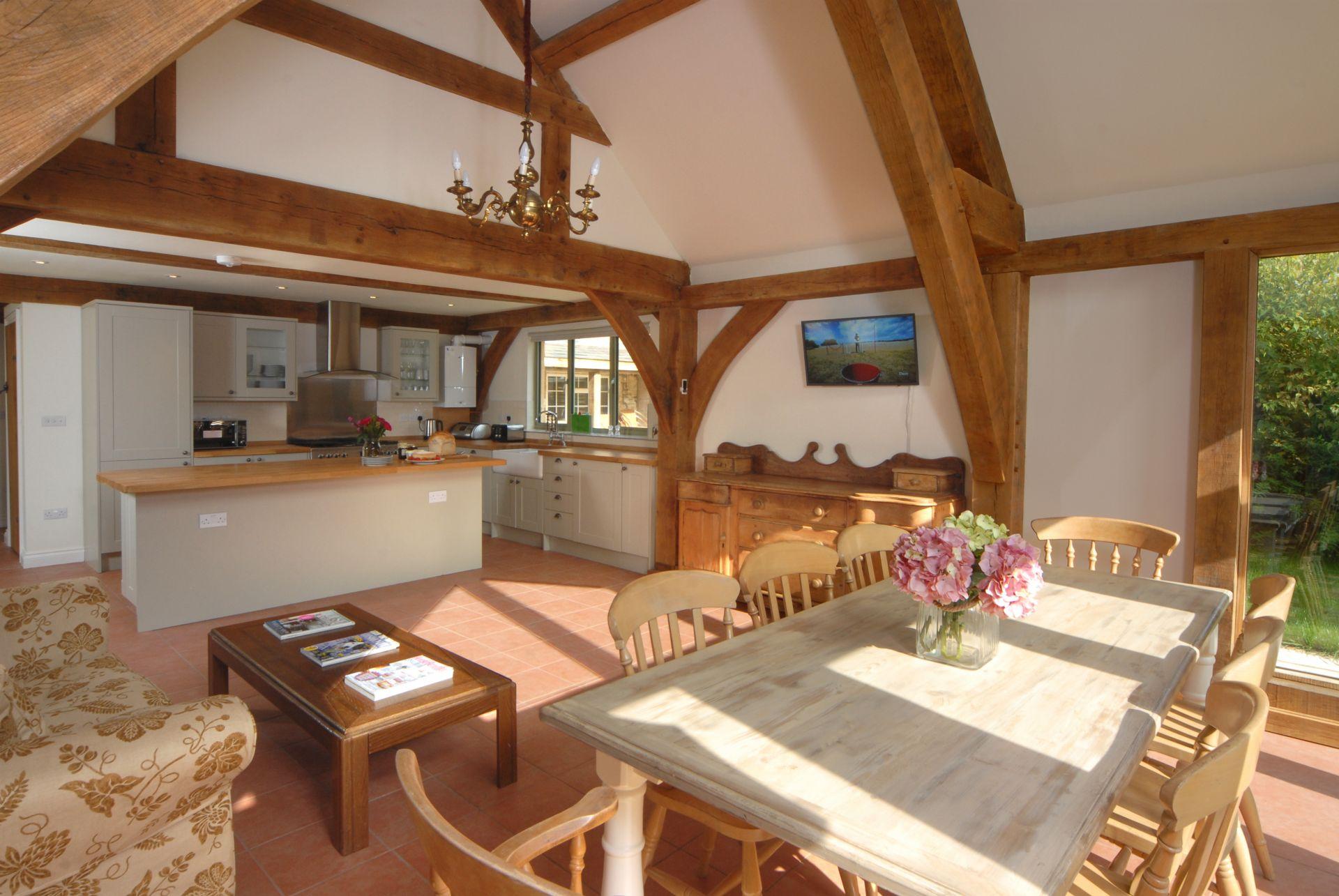 Ground floor: open-plan kitchen/dining area