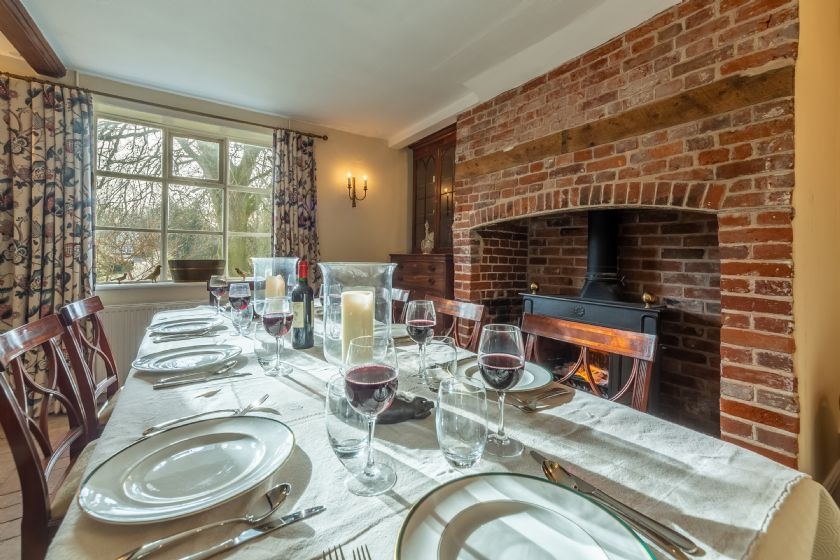 Ground floor: Dining room with views to the front of the house
