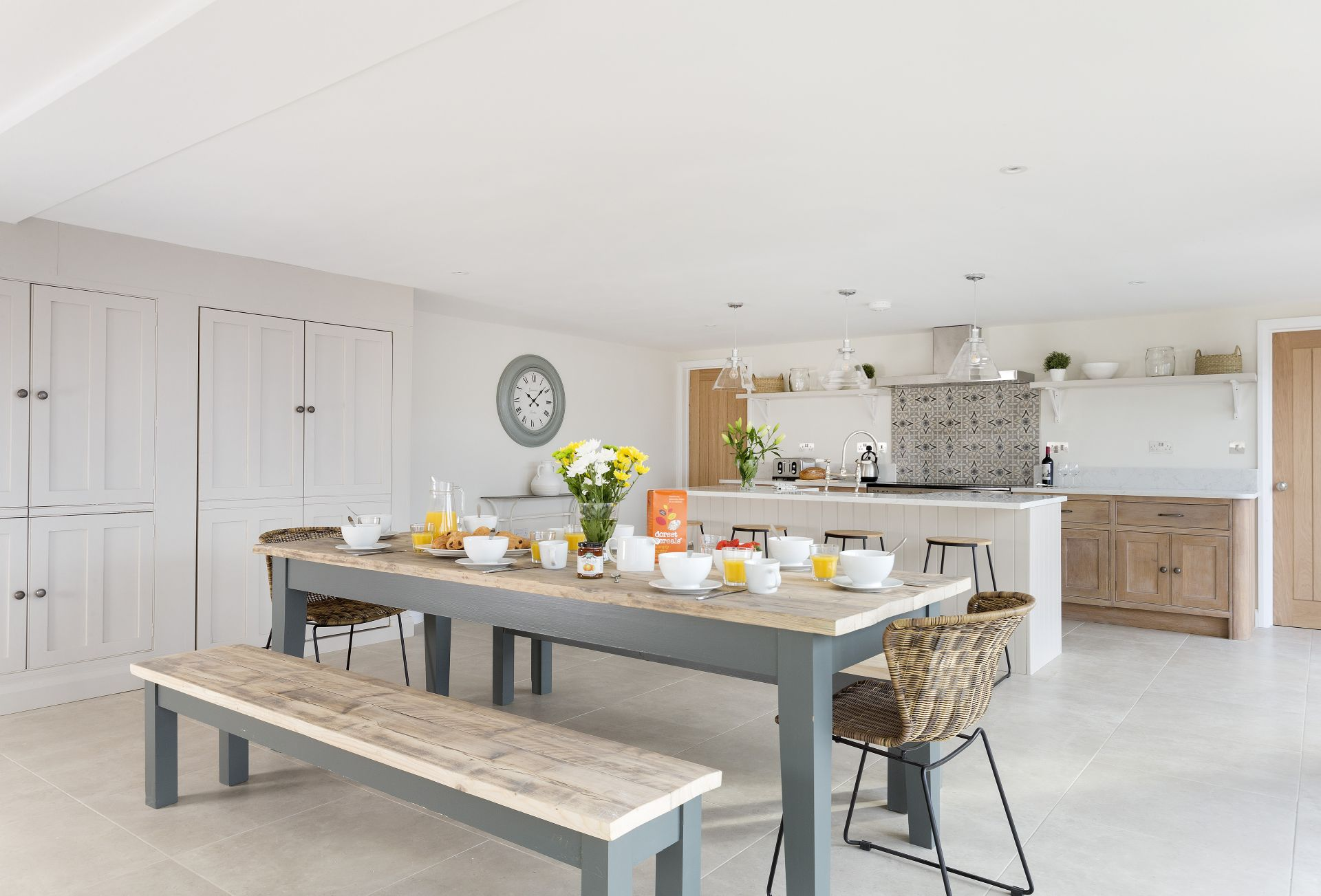 Ground floor:  A sociable open-plan kitchen and dining space