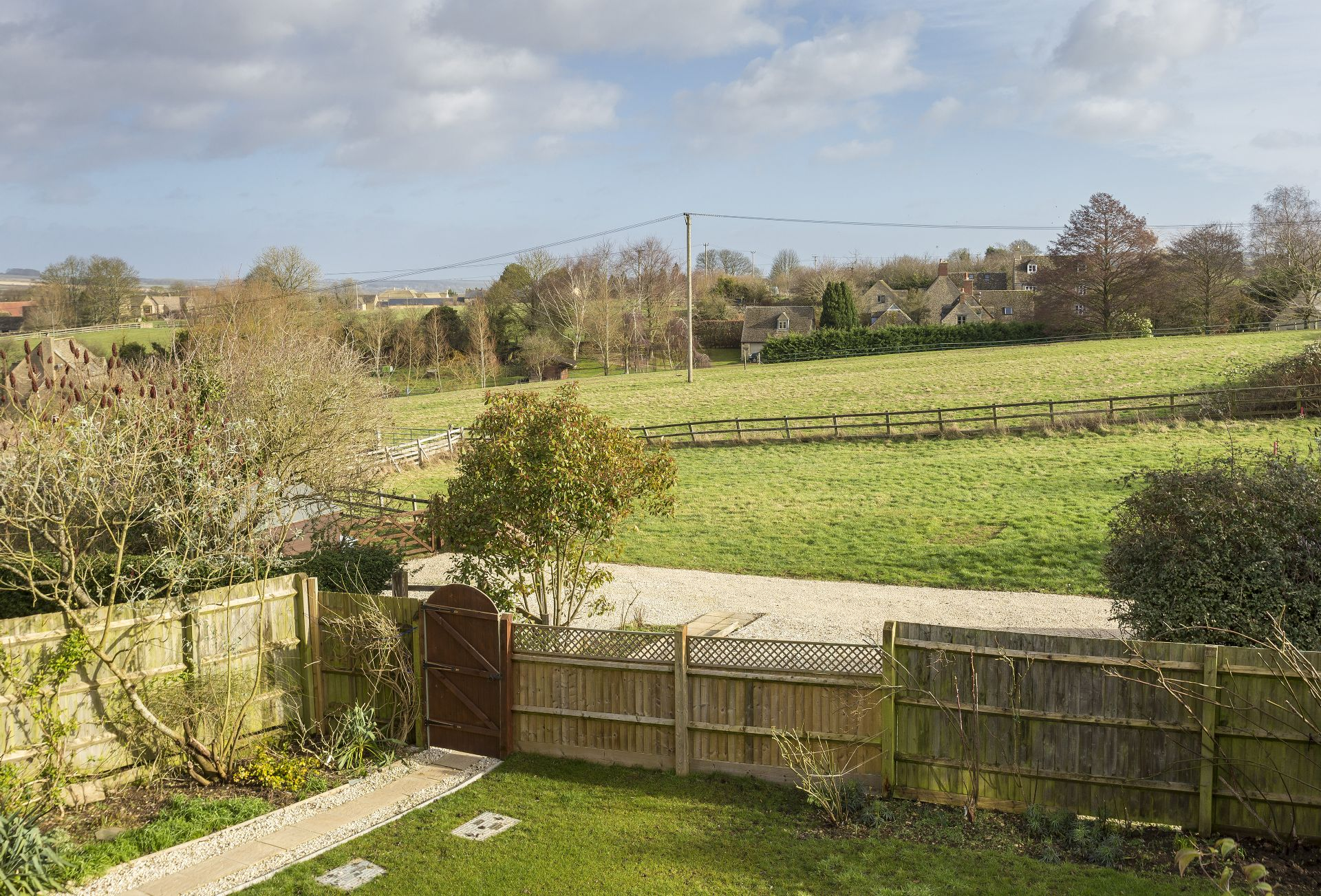 Stunning views of the local countryside from Upper end House