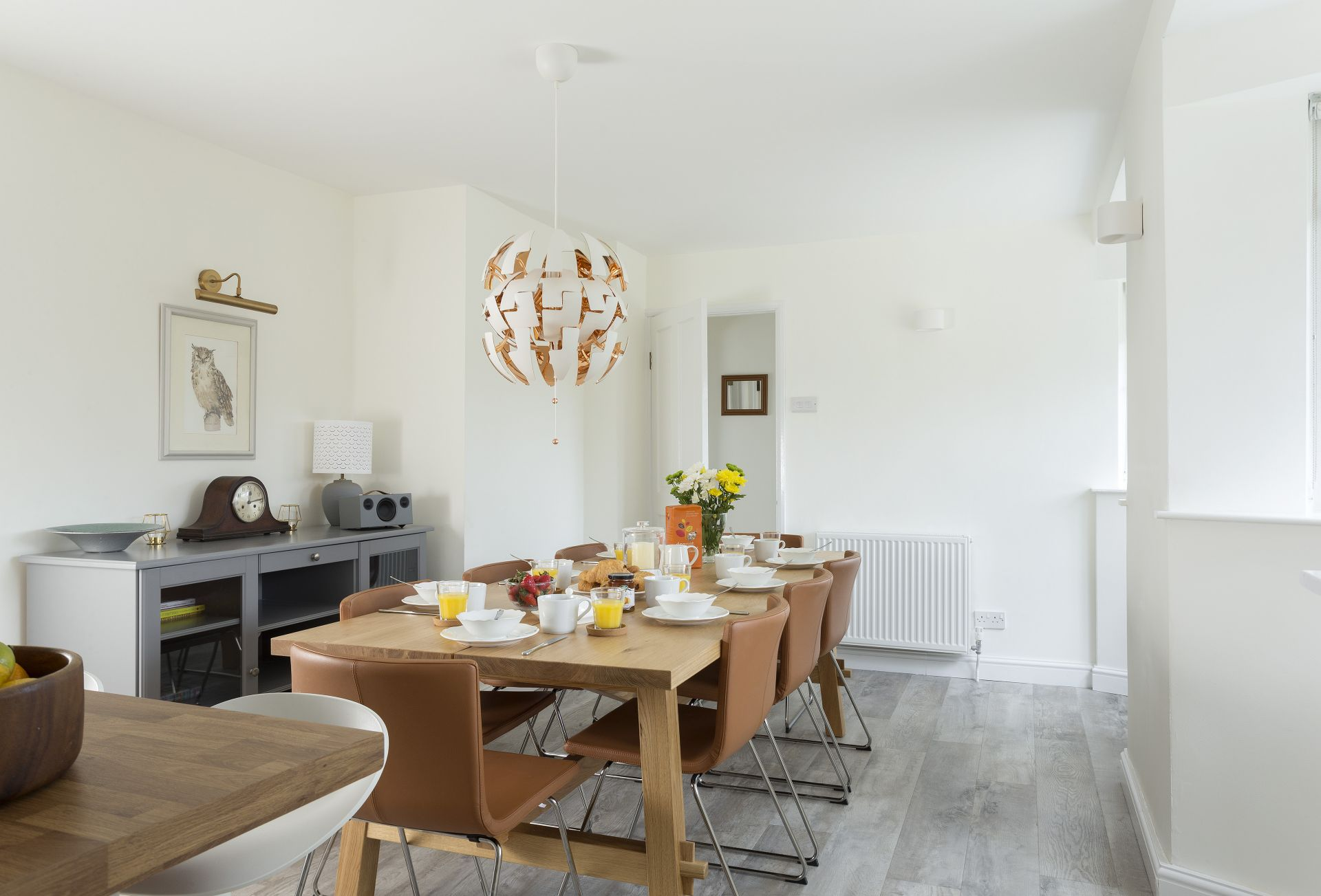 Ground floor: Seating for eight in the open-plan dining space