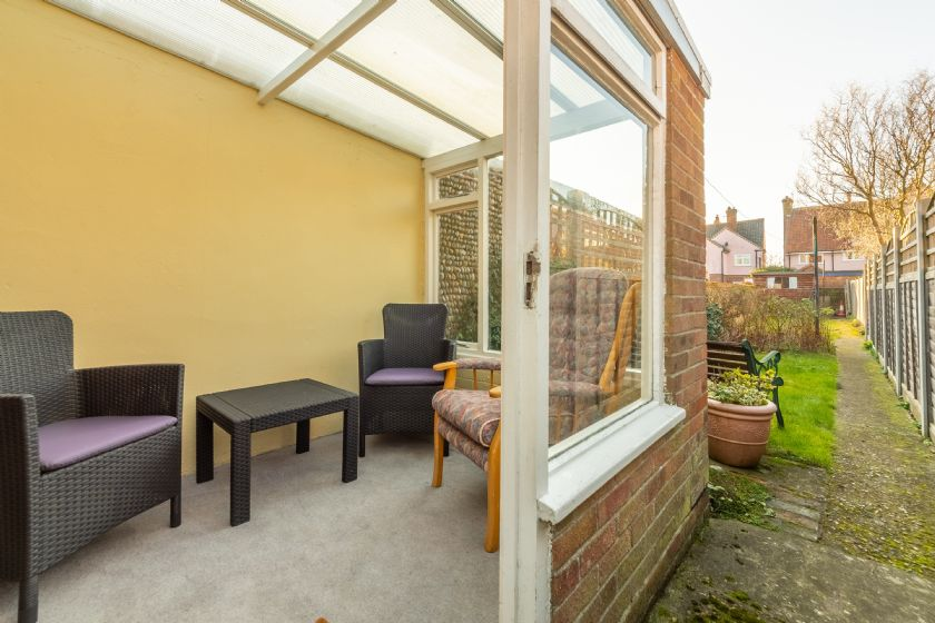 Sun room at rear of cottage