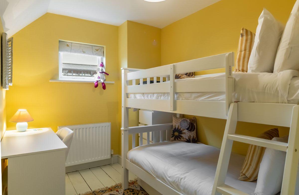 First floor: Bedroom three is the children's bedroom with bunk beds