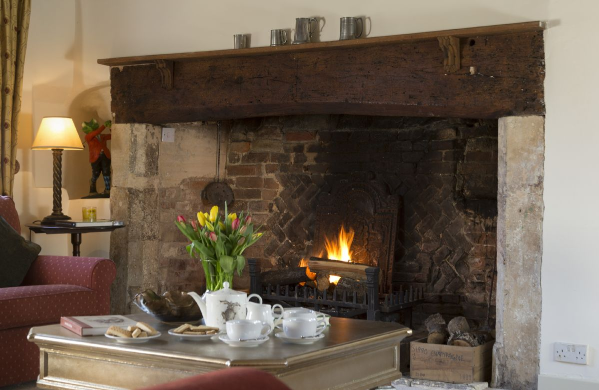 Ground floor: Enjoy a cosy and warming fire on a chilly evening