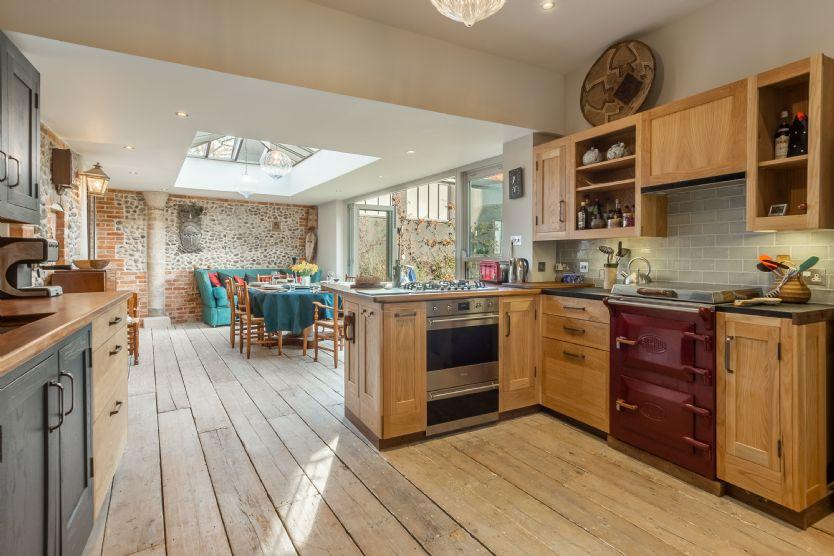 Ground floor: Kitchen through to dining room