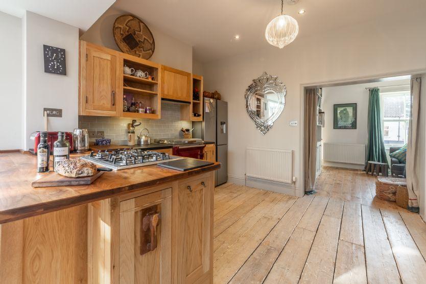 Ground floor: Kitchen looking through to sitting room