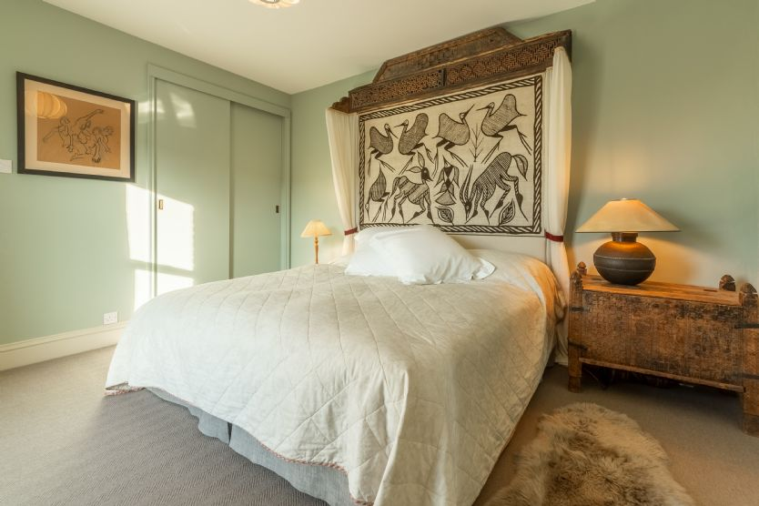First floor: Master bedroom with super king/twin bed
