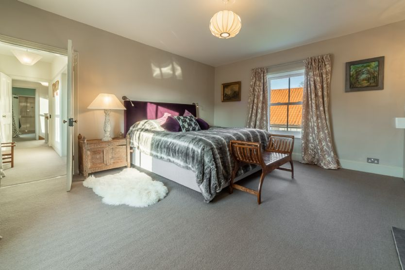First floor: Bedroom two with super king bed