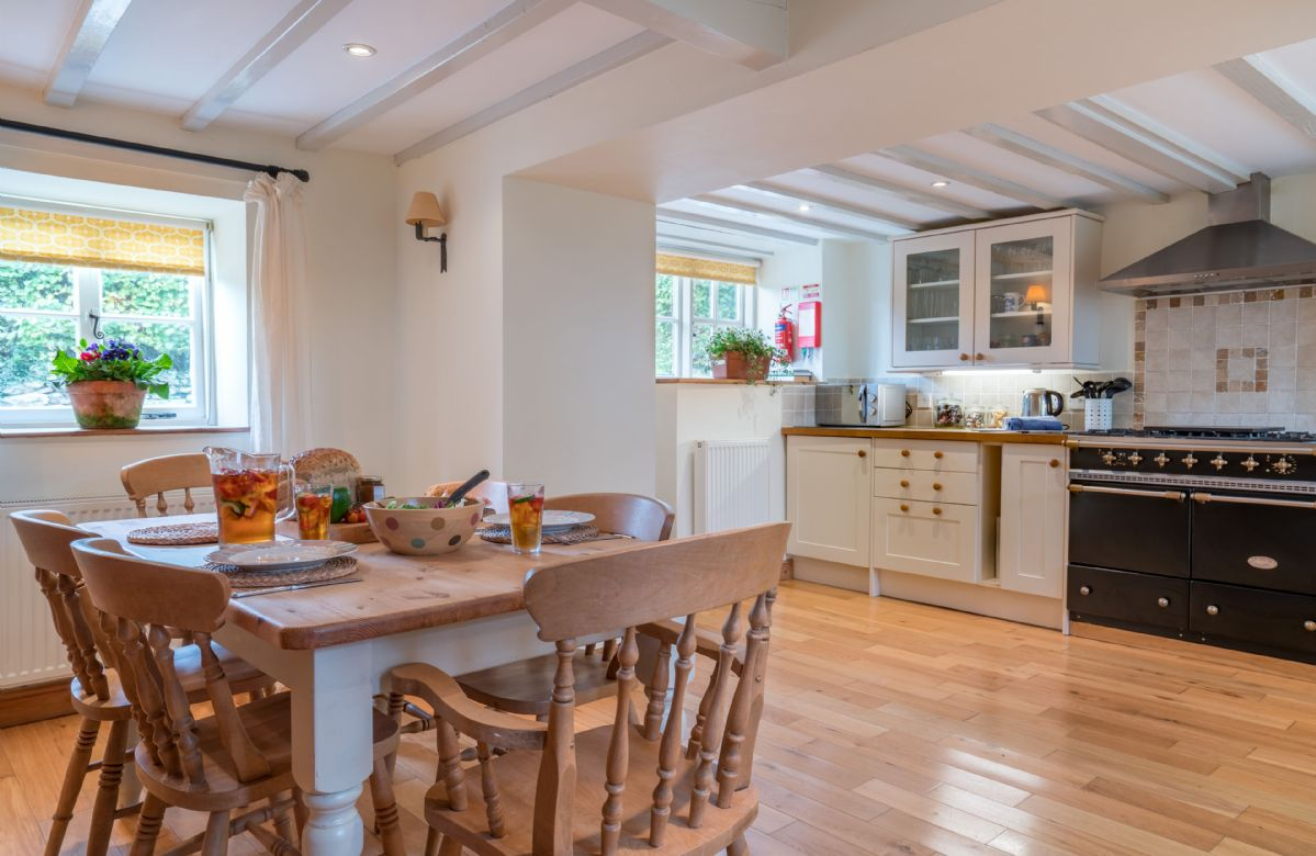 Ground floor: The spacious open plan kitchen and dining table