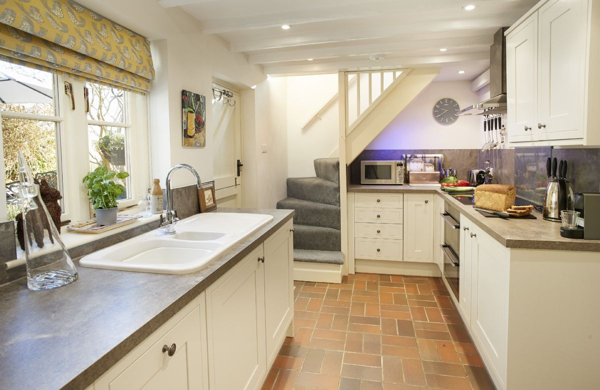 Ground floor: Lots of natural light in this fully fitted kitchen