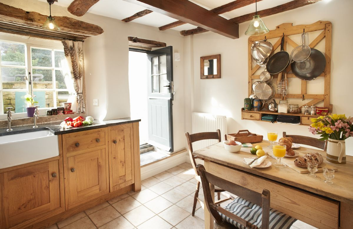 Ground floor: Fully fitted kitchen with dining table seating three guests