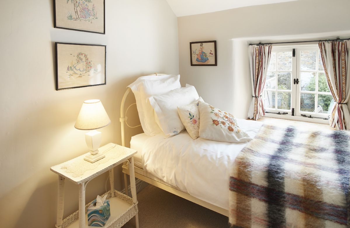 First floor: Small single bedroom with 3' bed linked to double bedroom and more suited to a child