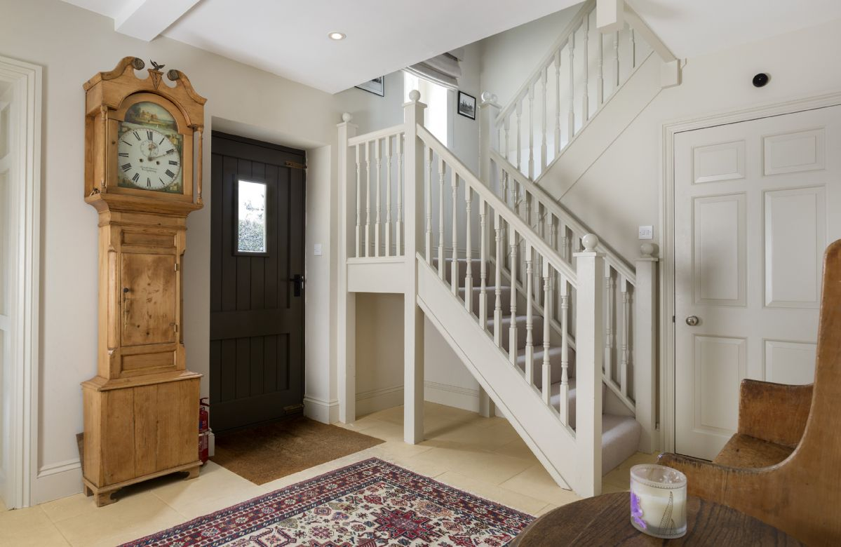 Ground floor: Entrance hall with staircase to first floor bedrooms